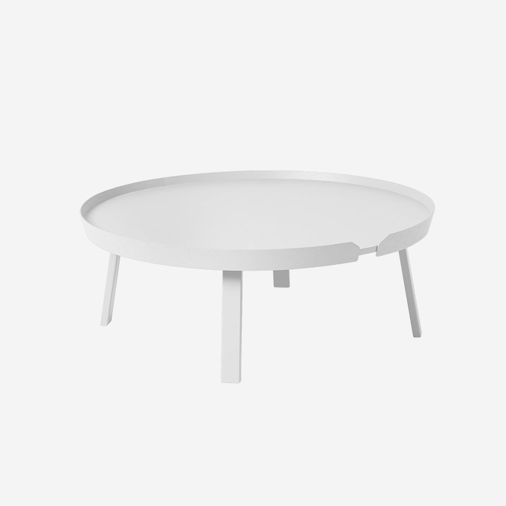 Muuto Around Coffee Table Extra Large White Tables Sf