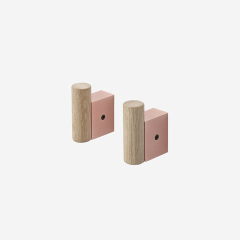 Muuto - Attach Coat Hook Oak Rose by Muuto - Hook  SIMPLE FORM.