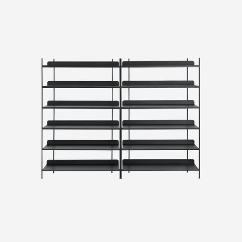 SIMPLE FORM. - Muuto - Compile Shelf Black Configuration 8 by Muuto - Shelf