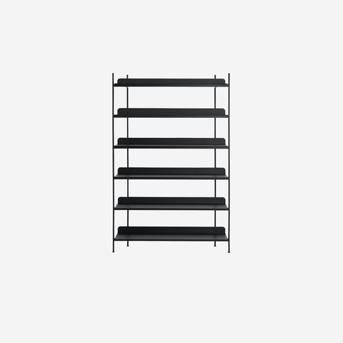 SIMPLE FORM. - Muuto - Compile Shelf Black Configuration 4 by Muuto - Shelf