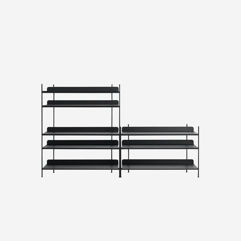 Muuto - Compile Shelf Black Configuration 7 by Muuto - Shelf  SIMPLE FORM.