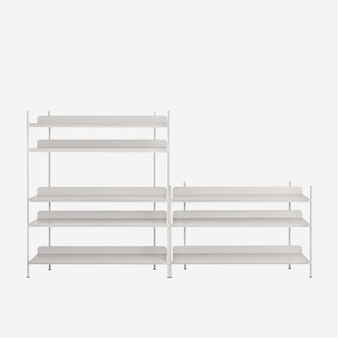 SIMPLE FORM. - Muuto - Compile Shelf Grey Configuration 7 by Muuto - Shelf