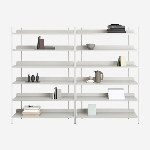 SIMPLE FORM. - Muuto - Compile Shelf Grey Configuration 8 by Muuto - Shelf