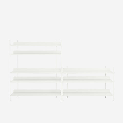 SIMPLE FORM. - Muuto - Compile Shelf White Configuration 7 by Muuto - Shelf
