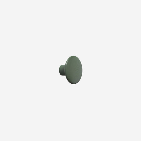 SIMPLE FORM. - Muuto - Dot Hook Wood Dusty Green Small by Muuto - Hook
