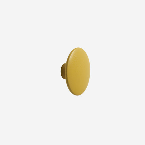 Muuto - Dot Hook Wood Mustard Medium by Muuto - Hook  SIMPLE FORM.