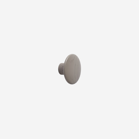 SIMPLE FORM. - Muuto - Dot Hook Wood Taupe Small by Muuto - Hook