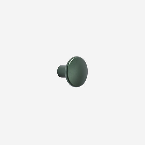 SIMPLE FORM. - Muuto - Dot Hook Metal Dark Green Small by Muuto - Hook