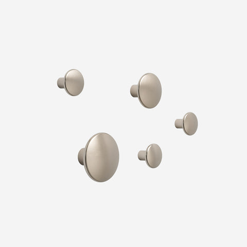 Muuto - Dot Hooks Metal Set Taupe by Muuto - Hook  SIMPLE FORM.