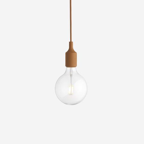 SIMPLE FORM. - Muuto - E27 Pendant Lamp Clay Brown by Muuto - Lighting