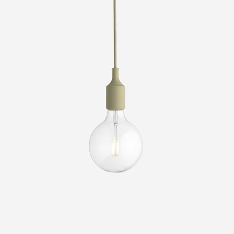 SIMPLE FORM. - Muuto - E27 Pendant Lamp Green Beige by Muuto - Lighting