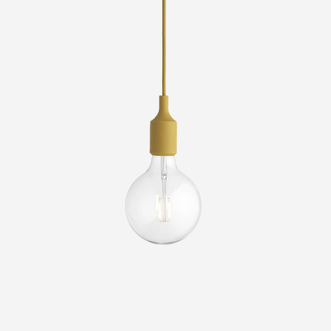 SIMPLE FORM. - Muuto - E27 Pendant Lamp Mustard by Muuto - Lighting