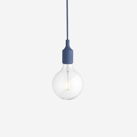SIMPLE FORM. - Muuto - E27 Pendant Lamp Pale Blue by Muuto - Lighting