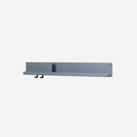 SIMPLE FORM. - Muuto - Folded Shelf Large Blue Grey By Muuto - Wall Shelf