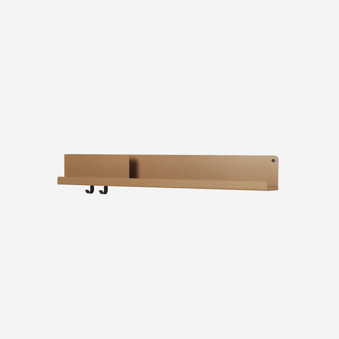 SIMPLE FORM. - Muuto - Folded Shelf Large Burnt Orange By Muuto - Wall Shelf