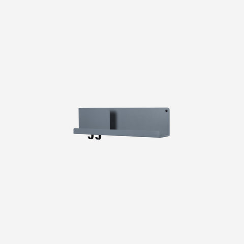 Muuto - Folded Shelf Medium Blue Grey By Muuto - Wall Shelf  SIMPLE FORM.