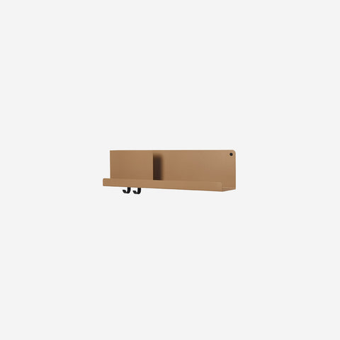 SIMPLE FORM. - Muuto - Folded Shelf Medium Burnt Orange By Muuto - Wall Shelf