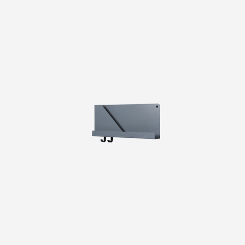Muuto - Folded Shelf Small Blue Grey By Muuto - Wall Shelf  SIMPLE FORM.