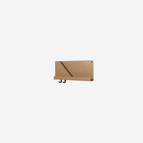 SIMPLE FORM. - Muuto - Folded Shelf Small Burnt Orange By Muuto - Wall Shelf