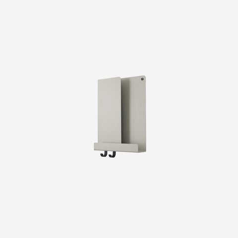 SIMPLE FORM. - Muuto - Folded Shelf Tall Grey By Muuto - Wall Shelf