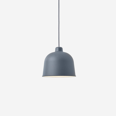 SIMPLE FORM. - Muuto - Grain Pendant Lamp Blue Grey by Muuto - Lighting