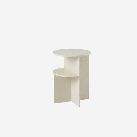 SIMPLE FORM. - Muuto - Halves Side Table Sand by Muuto - Table