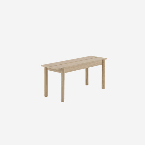 SIMPLE FORM. - Muuto - Linear Wood Oak Bench 110cm by Muuto - Bench