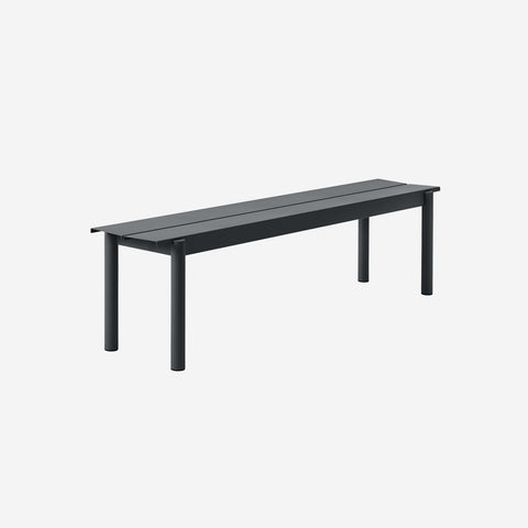 SIMPLE FORM. - Muuto - Linear Steel Bench 170cm Black by Muuto - Bench
