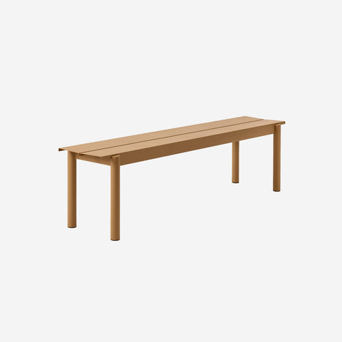 SIMPLE FORM. - Muuto - Linear Steel Bench 170cm Burn Orange by Muuto - Bench