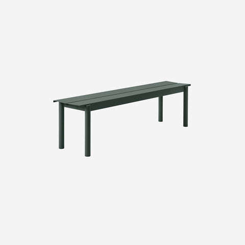 SIMPLE FORM. - Muuto - Linear Steel Bench 170cm Dark Green by Muuto - Bench