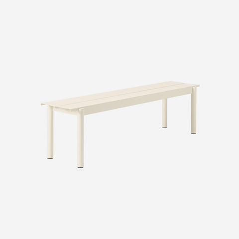 SIMPLE FORM. - Muuto - Linear Steel Bench 170cm White by Muuto - Bench