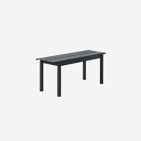 SIMPLE FORM. - Muuto - Linear Steel Bench 110cm Black by Muuto - Bench
