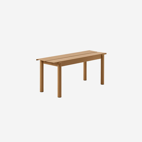 SIMPLE FORM. - Muuto - Linear Steel Bench 110cm Burnt Orange by Muuto - Bench