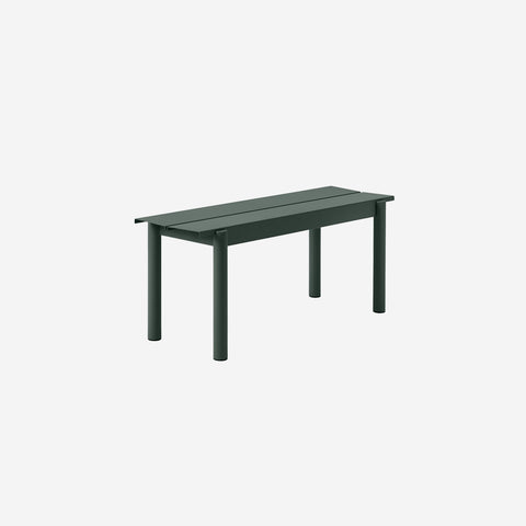 SIMPLE FORM. - Muuto - Linear Steel Bench 110cm Dark Green - Bench