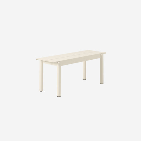 SIMPLE FORM. - Muuto - Linear Steel Bench 110cm White by Muuto - Bench