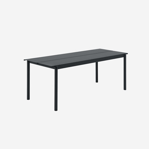SIMPLE FORM. - Muuto - Linear Steel Table 200cm Black by Muuto - Table