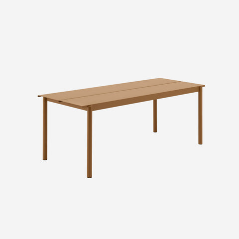 SIMPLE FORM. - Muuto - Linear Steel Table 200cm Burnt Orange by Muuto - Table