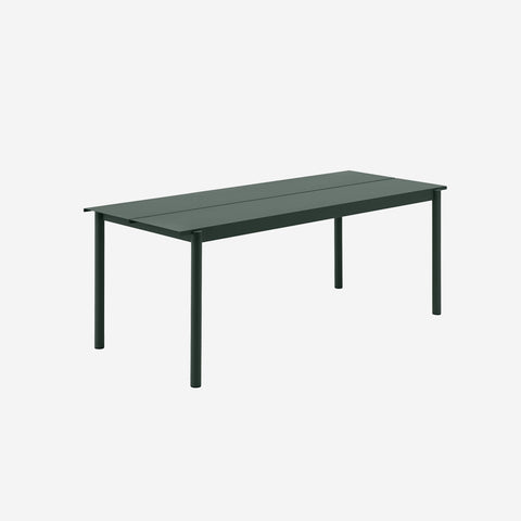 SIMPLE FORM. - Muuto - Linear Steel Table 200cm Dark Green by Muuto - Table