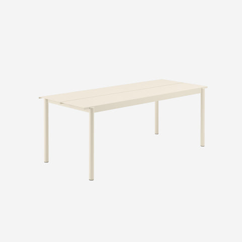 SIMPLE FORM. - Muuto - Linear Steel Table 200cm White by Muuto - Table
