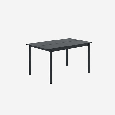 SIMPLE FORM. - Muuto - Linear Steel Table 140cm Black by Muuto - Table