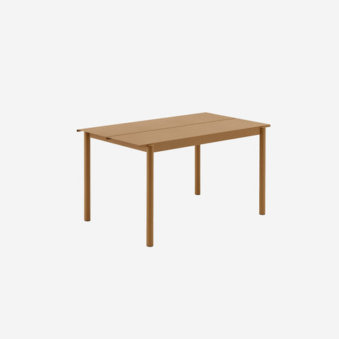 SIMPLE FORM. - Muuto - Linear Steel Table 140cm Burnt Orange by Muuto - Table