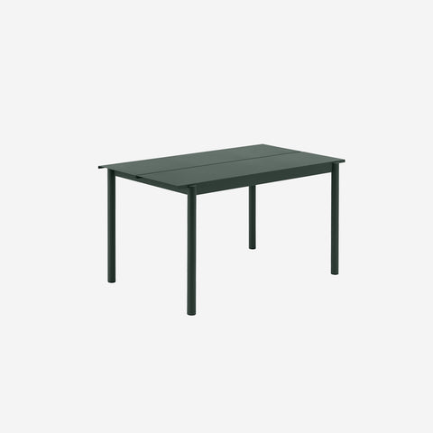 SIMPLE FORM. - Muuto - Linear Steel Table 140cm Dark Green by Muuto - Table