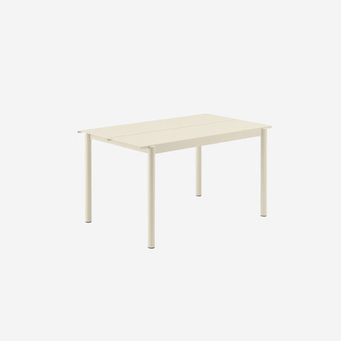 SIMPLE FORM. - Muuto - Linear Steel Table 140cm White by Muuto - Table