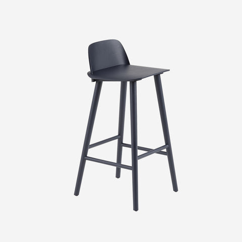 SIMPLE FORM. - Muuto - Nerd Bar Stool Midnight Blue by Muuto - Stool