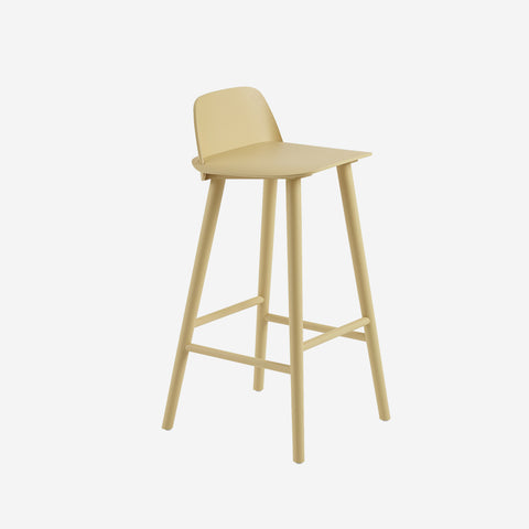 SIMPLE FORM. - Muuto - Nerd Bar Stool Sand Yellow by Muuto - Stool