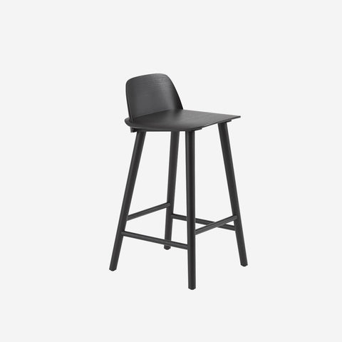 SIMPLE FORM. - Muuto - Nerd Counter Stool Black by Muuto - Stool