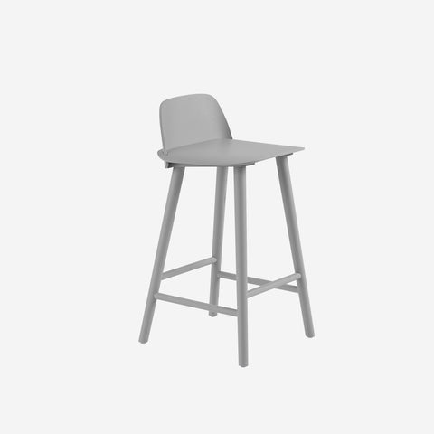 SIMPLE FORM. - Muuto - Nerd Counter Stool Grey by Muuto - Stool
