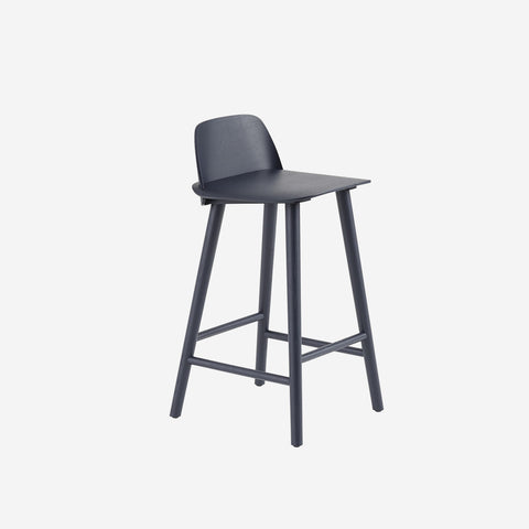 SIMPLE FORM. - Muuto - Nerd Counter Stool Midnight Blue by Muuto - Stool