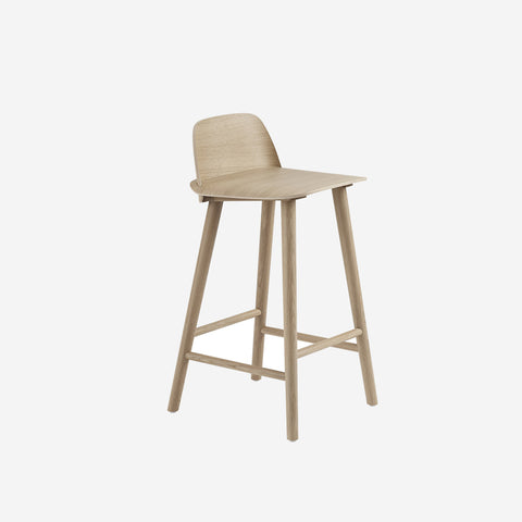 SIMPLE FORM. - Muuto - Nerd Counter Stool Oak by Muuto - Stool