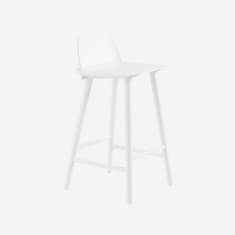 SIMPLE FORM. - Muuto - Nerd Counter Stool White by Muuto by Muuto - Stool